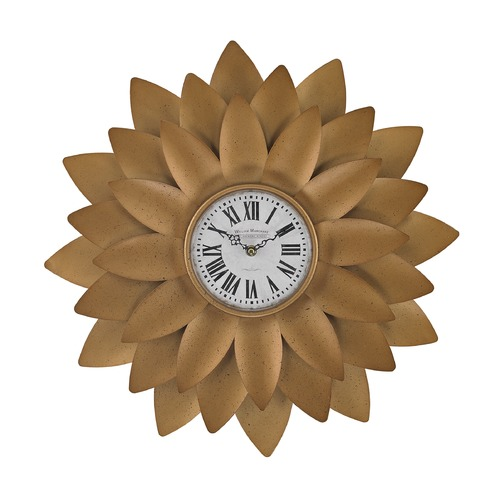 Sterling Lighting Gold Petal Wall Clock 171-018