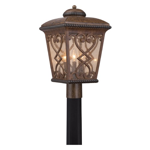 Quoizel Lighting Quoizel Fort Quinn Antique Brown Post Light FQ9011AW