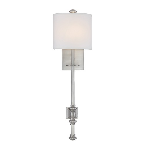 Savoy House Savoy House Lighting Devon Satin Nickel Sconce 9-7140-1-SN