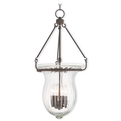 Livex Lighting Livex Lighting Andover Bronze Pendant Light with Fluted Shade 50946-07