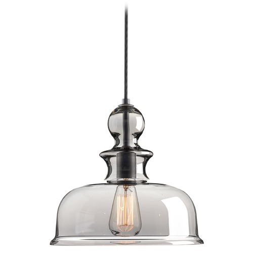 Progress Lighting Progress Lighting Staunton Graphite Pendant Light with Bowl / Dome Shade P5332-143