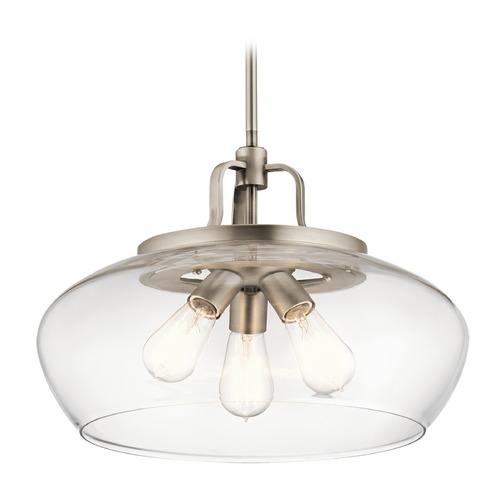 Kichler Lighting Transitional Pendant Light Pewter Davenport by Kichler Lighting 43904AP