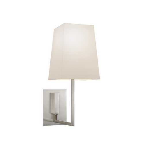 Sonneman Lighting Modern Sconce Wall Light with White Shade in Satin Nickel Finish 4445.13