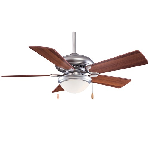 Minka Aire 44-Inch Minka Aire Fans Supra 44 Brushed Steel Ceiling Fan with Light F563-SP-BS/DW