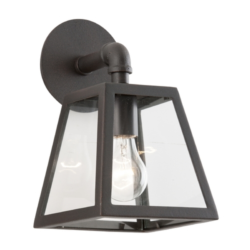 Troy Lighting Outdoor Wall Light with Clear Glass in River Valley Rust Finish B3431-C