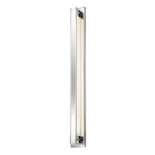 Sonneman Lighting Modern Sconce Wall Light with Clear Glass in Polished Chrome Finish 3011.01