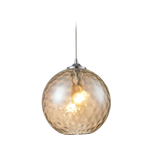 Elk Lighting Modern Mini-Pendant Light with Beige / Cream Glass 31380/1CMP-LA