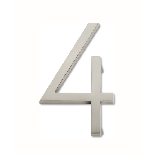 Atlas Homewares Brushed Nickel House Number AVN4-BRN