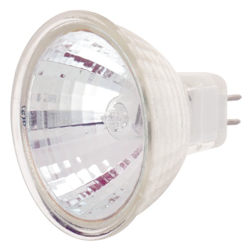 Satco Lighting MR-16 Halogen Light Bulb 2 Pin Narrow Spot 9 Degree Beam Spread 2900K 24V Dimmable S1995