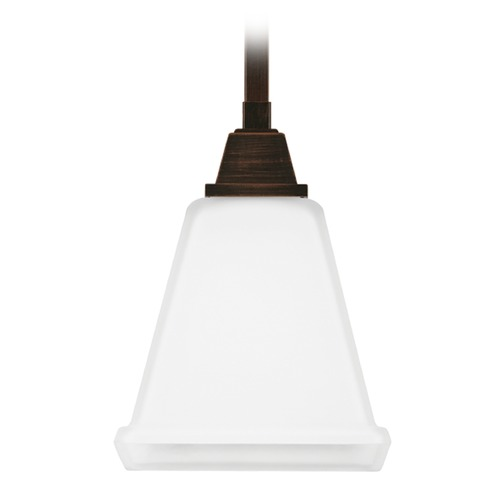 Sea Gull Lighting Sea Gull Lighting Denhelm Burnt Sienna Mini-Pendant Light with Square Shade 6150401-710
