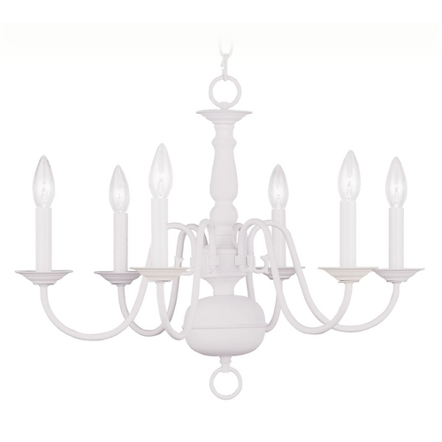 Livex Lighting Livex Lighting Williamsburg White Chandelier 5006-03