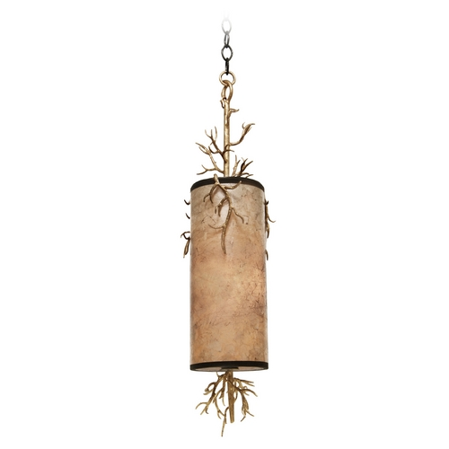 Kalco Lighting Kalco Lighting Oakham Bronze Gold Mini-Pendant Light with Cylindrical Shade 6617BZG