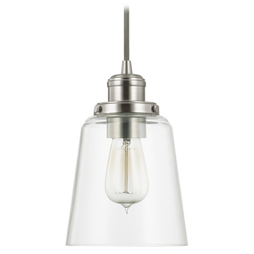 Capital Lighting Capital Lighting Brushed Nickel Mini-Pendant Light with Empire Shade 3718BN-135