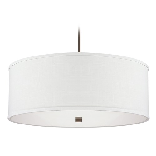 Capital Lighting Capital Lighting Midtown Burnished Bronze Pendant Light with Drum Shade 3911BB-400