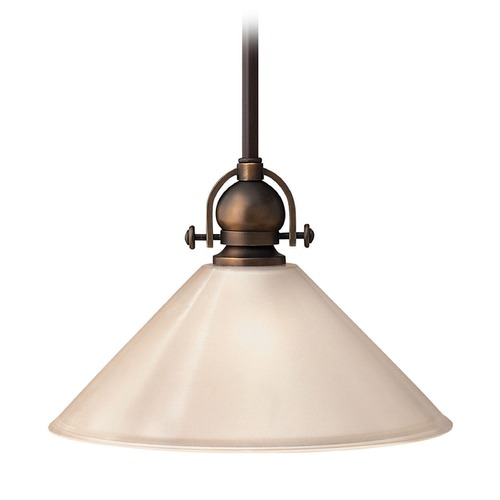 Hinkley Lighting Hinkley Lighting Mayflower Olde Bronze Mini-Pendant Light with Conical Shade 4151OB-GU24
