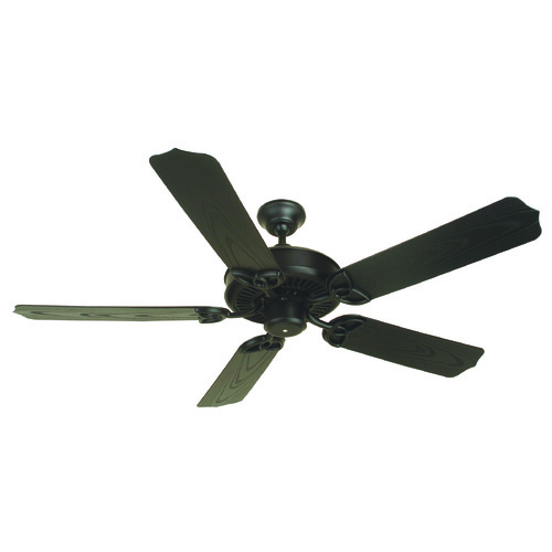 Craftmade Lighting Craftmade Lighting Outdoor Patio Fan Flat Black Ceiling Fan Without Light K10163