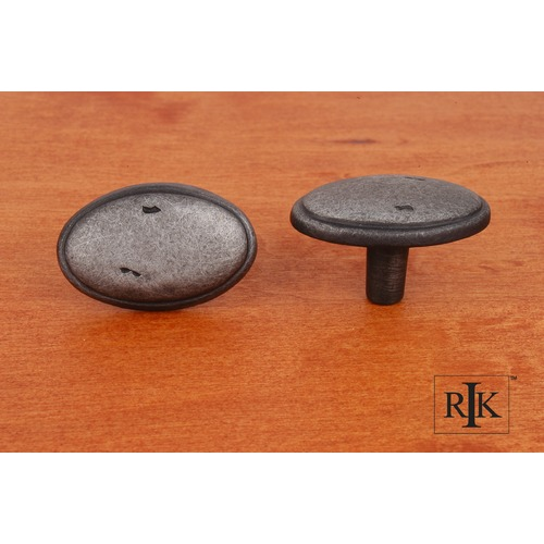 RK International Distressed Oval Knob with Ring Edge CK712DN
