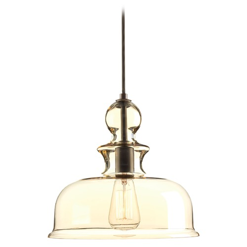 Progress Lighting Progress Lighting Staunton Antique Bronze Pendant Light with Bowl / Dome Shade P5332-20