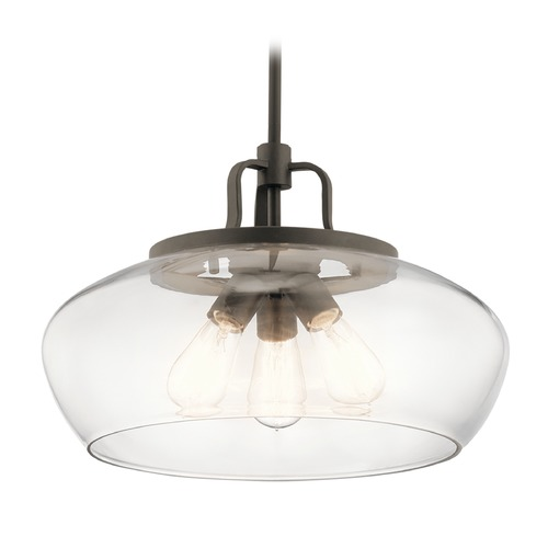 Kichler Lighting Transitional Pendant Light Olde Bronze Davenport by Kichler Lighting 43904OZ