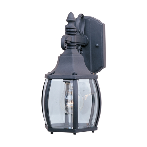 Maxim Lighting Outdoor Wall Light with Clear Glass in Black Finish 1031BK