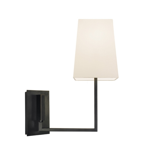 Sonneman Lighting Modern Sconce Wall Light with White Shade in Black Brass Finish 4445.51