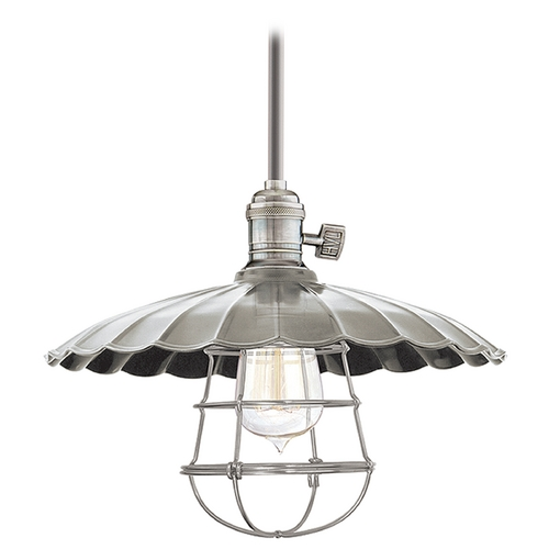 Hudson Valley Lighting Pendant Light in Historic Nickel Finish 9001-HN-MM3-WG