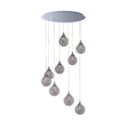ET2 Lighting Modern Multi-Light Pendant Light 9-Lights E24020-20PC