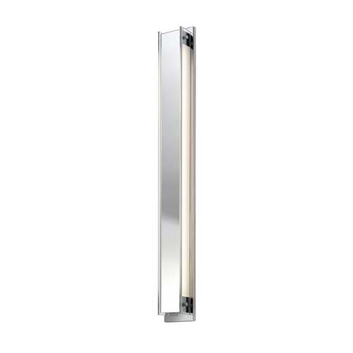 Sonneman Lighting Modern Sconce Wall Light with Clear Glass in Polished Chrome Finish 3013.01