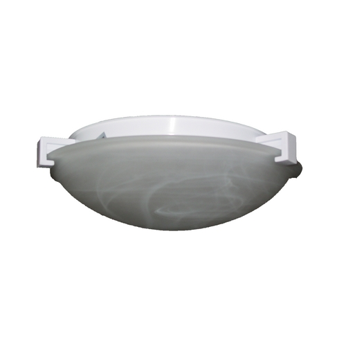 PLC Lighting Modern Flushmount Light with White Glass in Natural Iron Finish 7008  IR