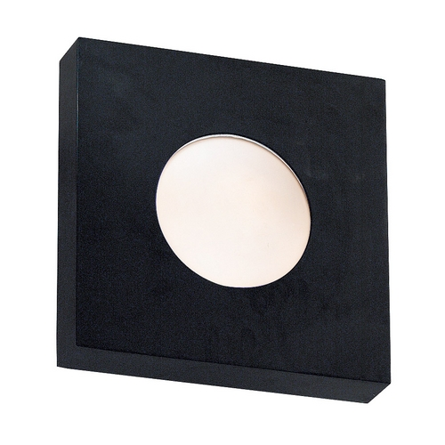 Kenroy Home Lighting Modern Outdoor Wall Light with White Glass in Black Finish 72826BL