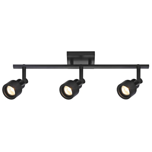 Recesso Lighting by Dolan Designs Track Light with 3 Stepped Cylinder Spot Lights - Black - GU10 Base TR0203-BK