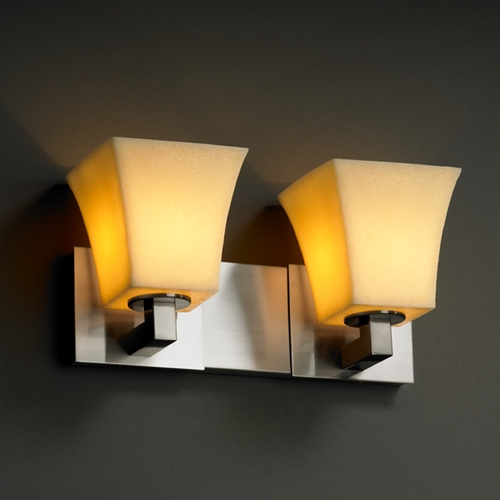Justice Design Group Justice Design Group Candlearia Collection Bathroom Light CNDL-8922-40-AMBR-NCKL