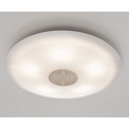 Holtkoetter Lighting Holtkoetter Modern Semi-Flushmount Light with White Glass in Brushed Brass Finish 3505DEK BB