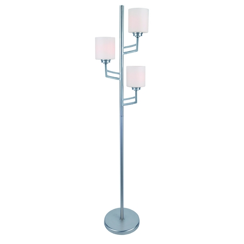 Lite Source Lighting Lite Source Lighting Winston Polished Steel Floor Lamp with Cylindrical Shade LSF-82785PS