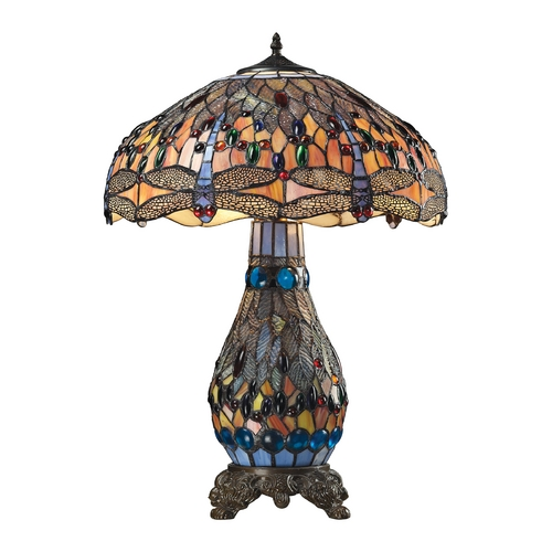 Dimond Lighting Dimond Lighting Dragonfly Tiffany Bronze Table Lamp with Bowl / Dome Shade 72079-3