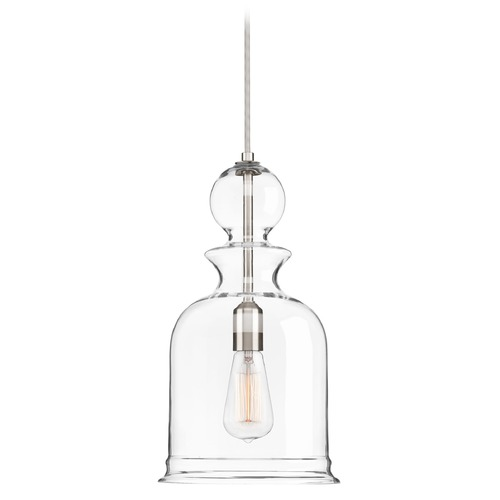 Progress Lighting Progress Lighting Staunton Brushed Nickel Mini-Pendant Light with Bowl / Dome Shade P5333-09