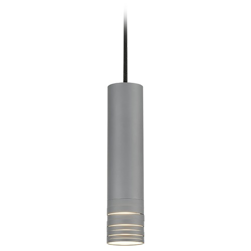 Kuzco Lighting Kuzco Lighting Milca Gray Pendant Light with Cylindrical Shade 494502M-GY