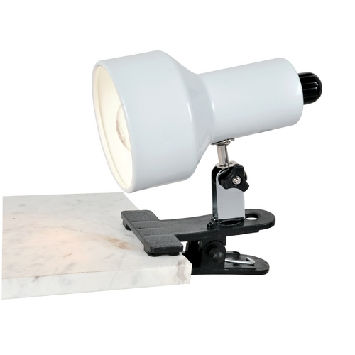 Lite Source Lighting Lite Source Lighting Clip-On II White Clip-On Lamp LS-114WHT