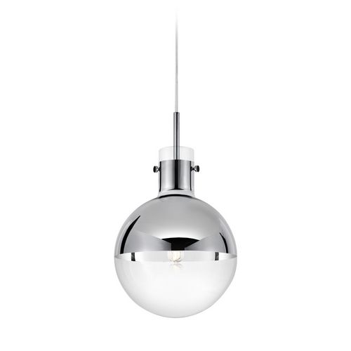 Sonneman Lighting Modern Mini-Pendant Light with Clear Glass 4781.01
