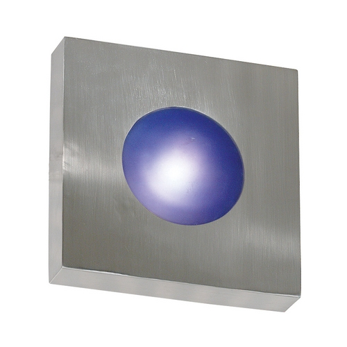 Kenroy Home Lighting Modern Outdoor Wall Light with White Glass in Polished Aluminum Finish 72826PA