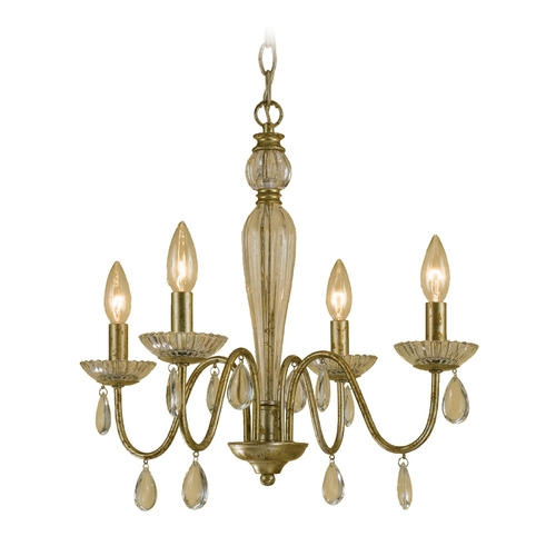 AF Lighting Swag Lamp in Gold Finish 7004-4H