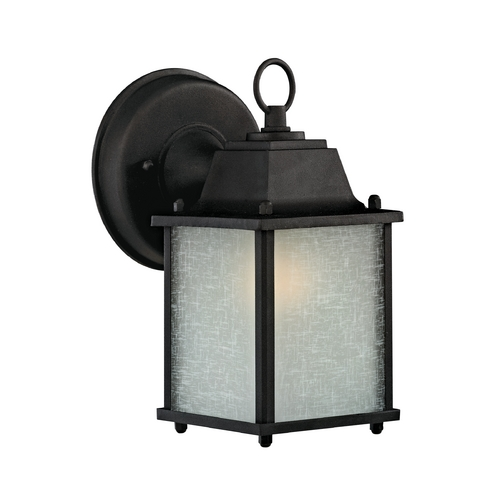 Design Classics Lighting Small Outdoor Wall Light - 8-3/4-Inches Tall 3045ES-1 BK