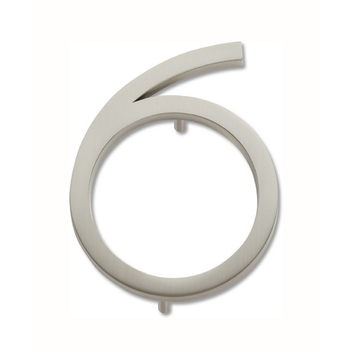 Atlas Homewares Brushed Nickel House Number AVN6-BRN