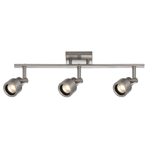Recesso Lighting by Dolan Designs Track Light with 3 Stepped Cylinder Spot Lights - Satin Nickel - GU10 Base TR0203-SN