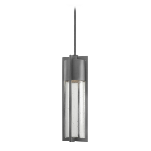 Hinkley Lighting Modern Outdoor Hanging Light with Clear Glass in Hematite Finish 1322HE-GU24