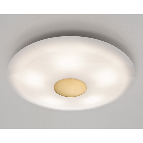 Holtkoetter Lighting Holtkoetter Modern Semi-Flushmount Light with White Glass in Antique Brass Finish 3505SOL AB