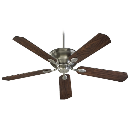 Quorum Lighting Quorum Lighting Kingsley Antique Silver Ceiling Fan Without Light 38605-92