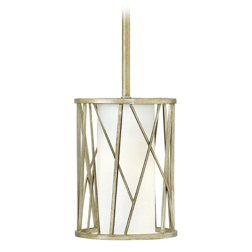 Hinkley Lighting Hinkley Lighting Nest Silver Leaf Mini-Pendant Light with Cylindrical Shade 41627SLF-GU24