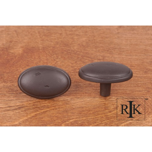 RK International Distressed Oval Knob with Ring Edge CK712RB