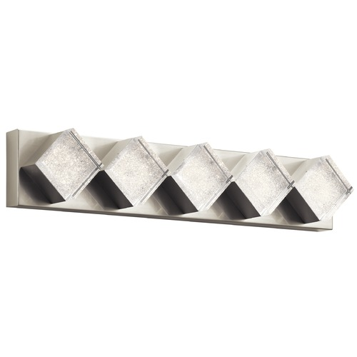 Elan Lighting Elan Lighting Gorve Brushed Nickel LED Bathroom Light 83780